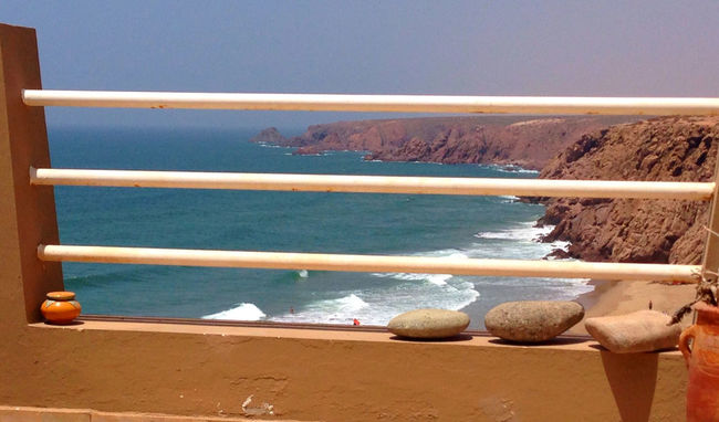 IPSWebsite Blue Wave Surf Shore High Angle View Beach Beauty In Nature Tranquil Scene Sand Morocco