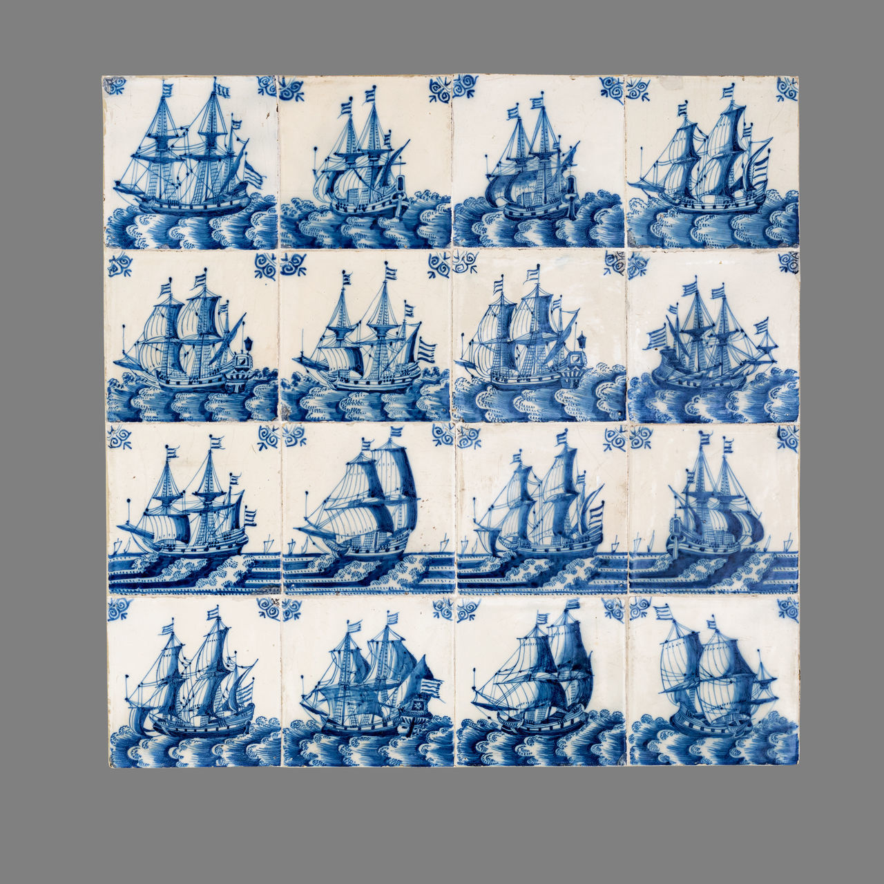 16th Century 17th Century 18th Century Ceramics Close-up Collage Day In A Row Indoors  Large Group Of Objects Multiple Image Netherlands No People Ship Tile Variation Vessel
