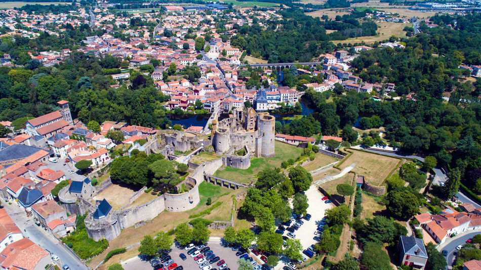 Aerial photo of Clisson castle and city center in Loire Atlantique, France Aerial Photography Aerial View Bridge Castle City City Center Cityscape Clisson Dungeon EyeEm Best Shots EyeEm Selects Fortifications France Hellfest High Angle View Historic Center Historical Monuments La Sèvre Landscape Loire Atlantique Medieval Castle River Sevre Nantaise Town Walls