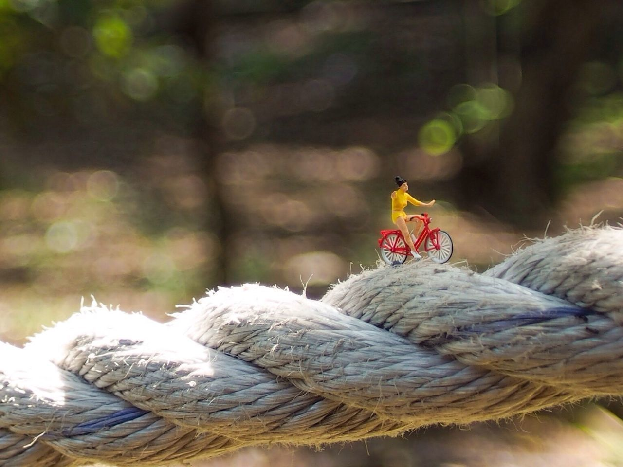 Balancing Bicycle Transportation Close-up Focus On Foreground Selective Focus Red Surface Level Miniature Minifigure Preiser Preiserphotography Toyphotography Toy Streetphotography Creative Photography Creative Bokeh Bokehlicious
