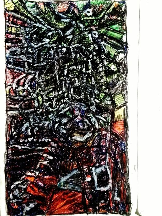 Abstract No People Pen Art Full Frame Backgrounds Painted Image Textured  Sketch Art And Craft Paper Papier Ink Multi Colored EyeEmNewHere Swiveling
