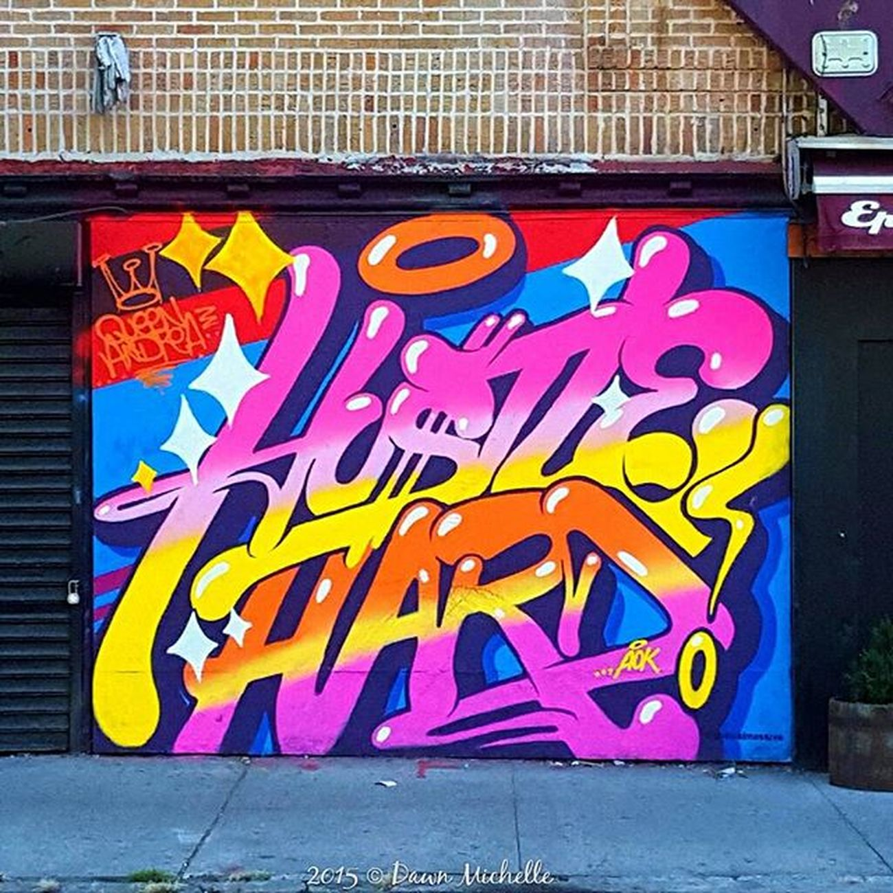 Hustle Hard by @QueenAndreaOne in LES. DopeShotBro DSB_GRAFF Rsa_graffiti Nycprime_ladies Nycprimeshot Icapturemobile Ig_captures Picoftheday Tag4likes Streetart Graff Graffiti Graffitiart StreetArtEverywhere Nycgraff Nycgraffiti Streetartny Instagrafite All_wallshots Streetart_daily Spraydaily Art Arteurbano Splendid_urban Urbanromantix feedissoclean be_one_urbanart queenandreaone typography rawnessofnewyork