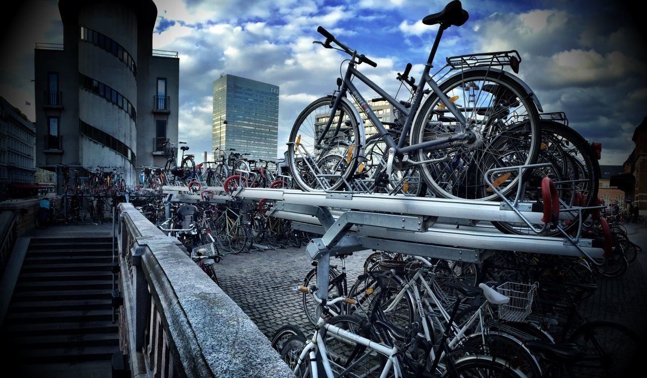 Bycicle Parking Lot Neverseenthatbefore Denmark Copenhagen Celebrate Your Ride