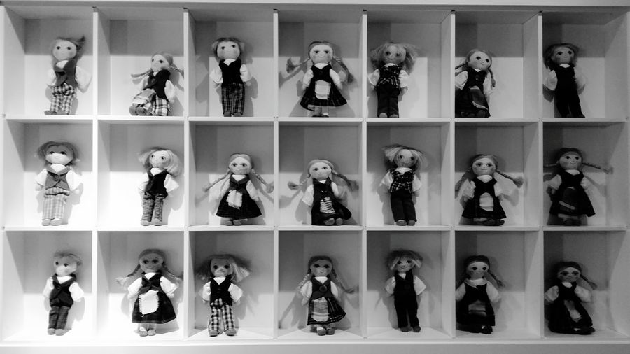 folk costume dolls Blackandwhite Monochrome Dolls Folklore Oldtown ArtWork Design Coffeeshop Boutique Vilnius