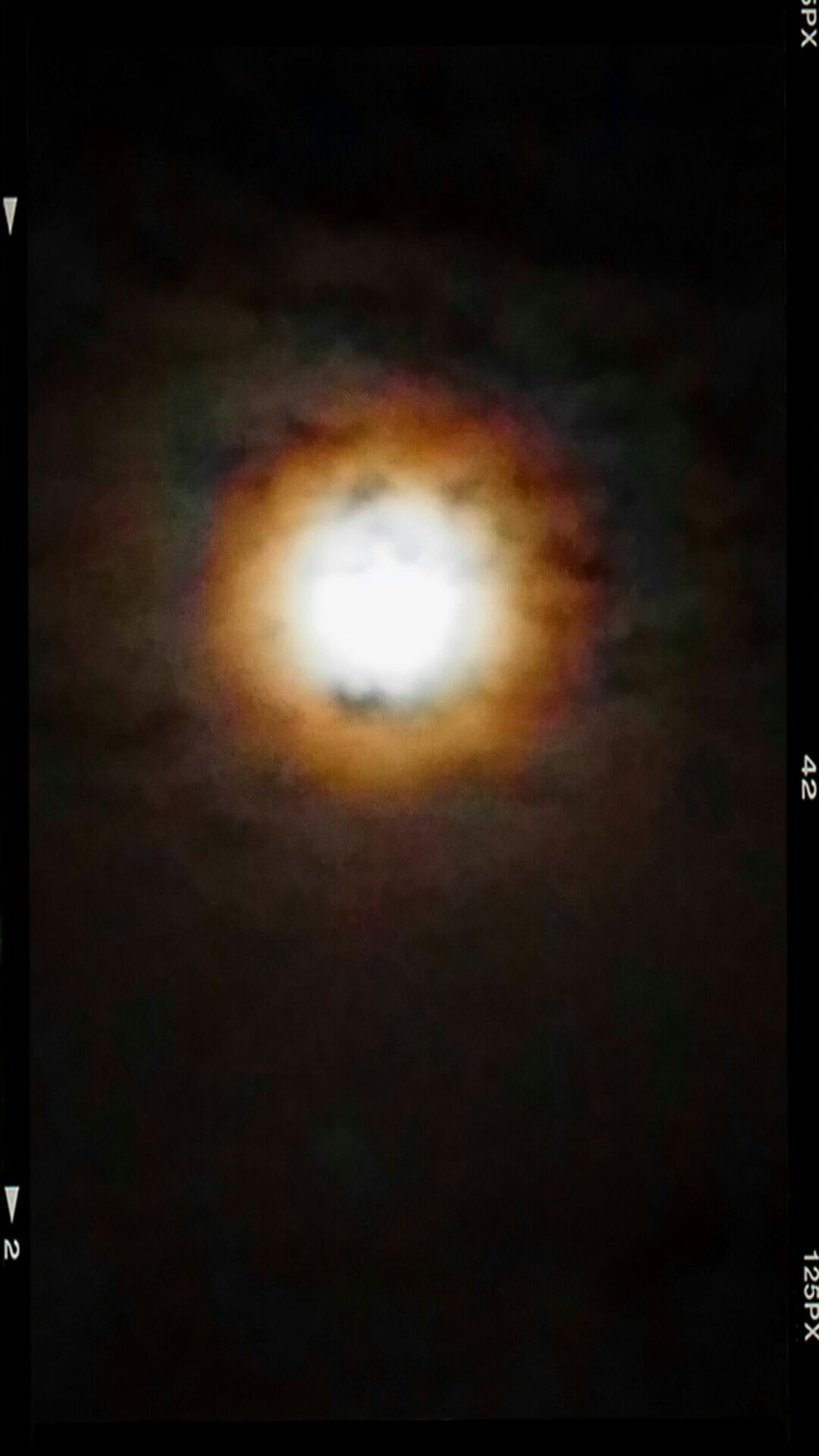 Taking Photos ❤ Full Moon Behind Clouds Galaxy Note3 Unedited Good Night ♡♡