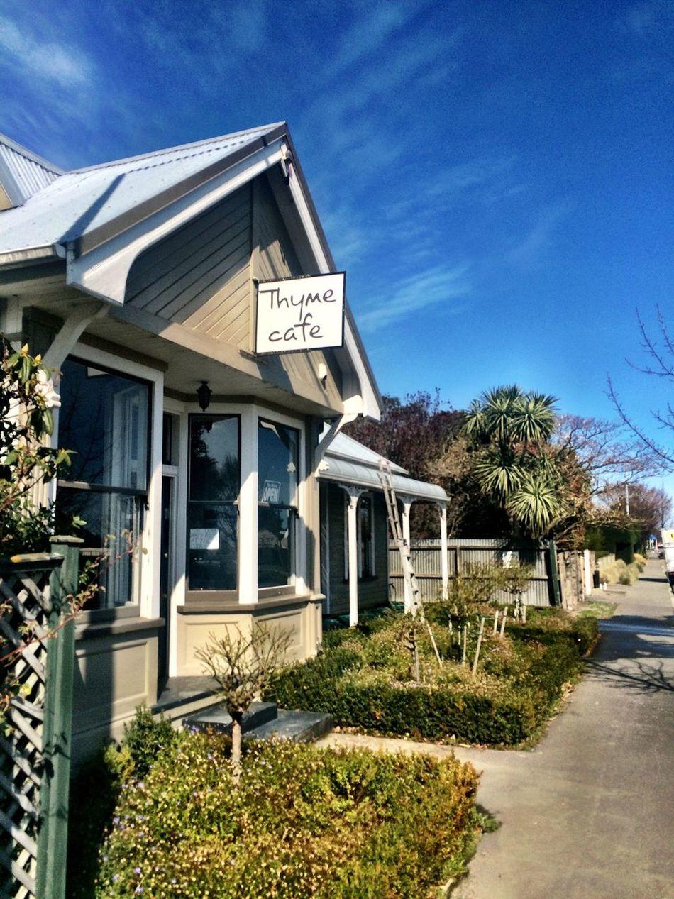 Thyme Cafe out at Prebbleton Cafe Prebbleton Sign Building
