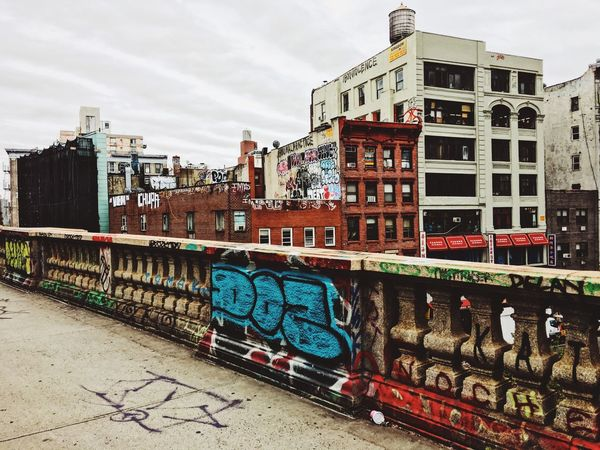 Graffiti Architecture Built Structure Building Exterior Day Outdoors Sky City No People Multi Colored New York City