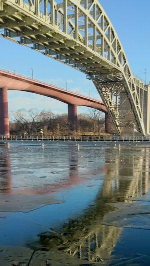Bridges old and new Årstabron Both beautiful in my opinion, makes an interesting Couple Årstaviken Reflection Bridge Ice