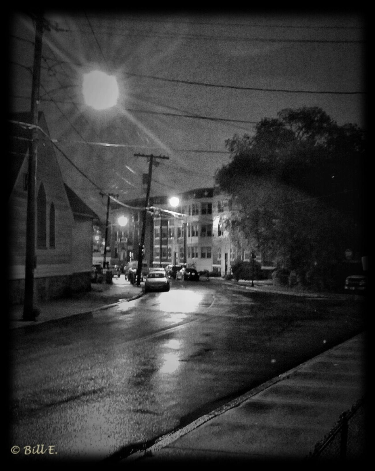 Blackandwhite Black And White Bw_collection Quiet And Rainy Night...