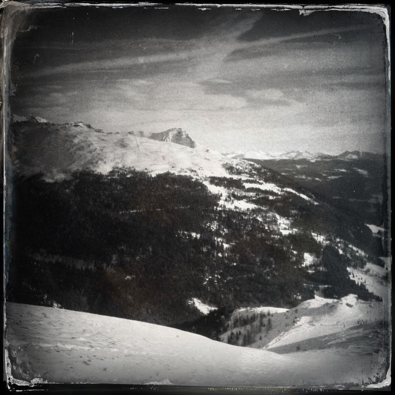 The view to Mt. Peilstein - Il Sasso Hipstamatic The_guido Ultental Blackandwhite