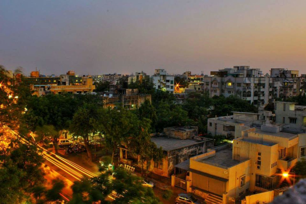 Dusk at Ahmedabad Cityscape Outdoors Travel Destinations Urban Skyline City Tree Sky Architecture Colors