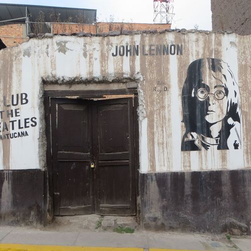 Abandoned Places Architecture Beatles Building Exterior Built Structure Day Door Graffiti John Lennon No People Outdoors People Neighborhood Map