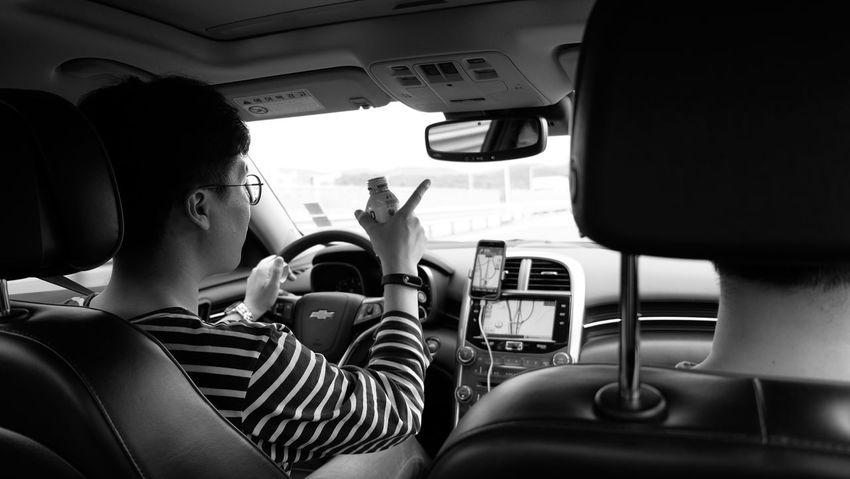 Travel EyeEm Selects Vehicle Interior Car Interior Transportation Car Mode Of Transport Two People Real People Land Vehicle Steering Wheel Sitting Driving Lifestyles Friendship Passenger Seat