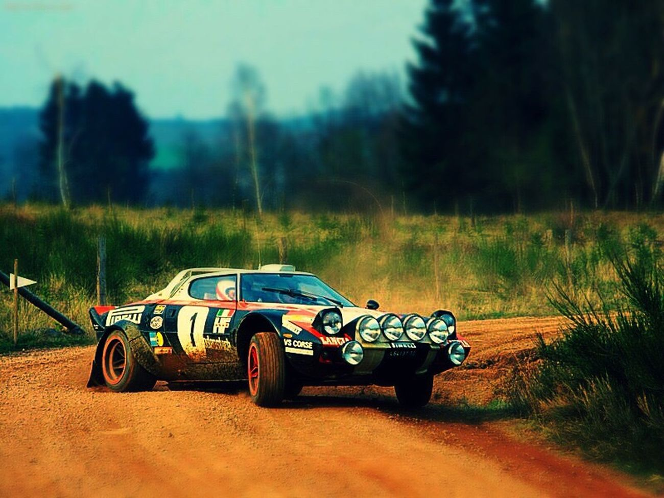 Lancia Rally Rally Car