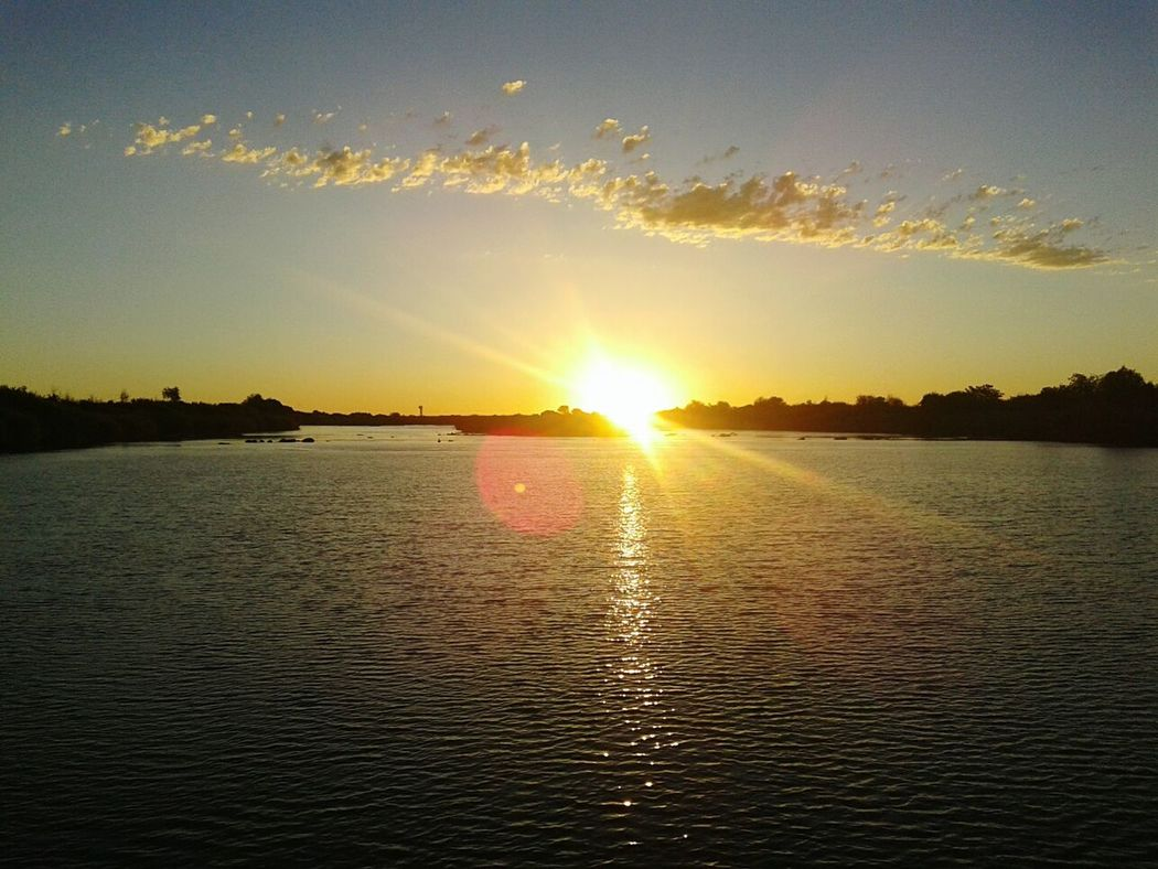 Sunset in Orange River South Africa