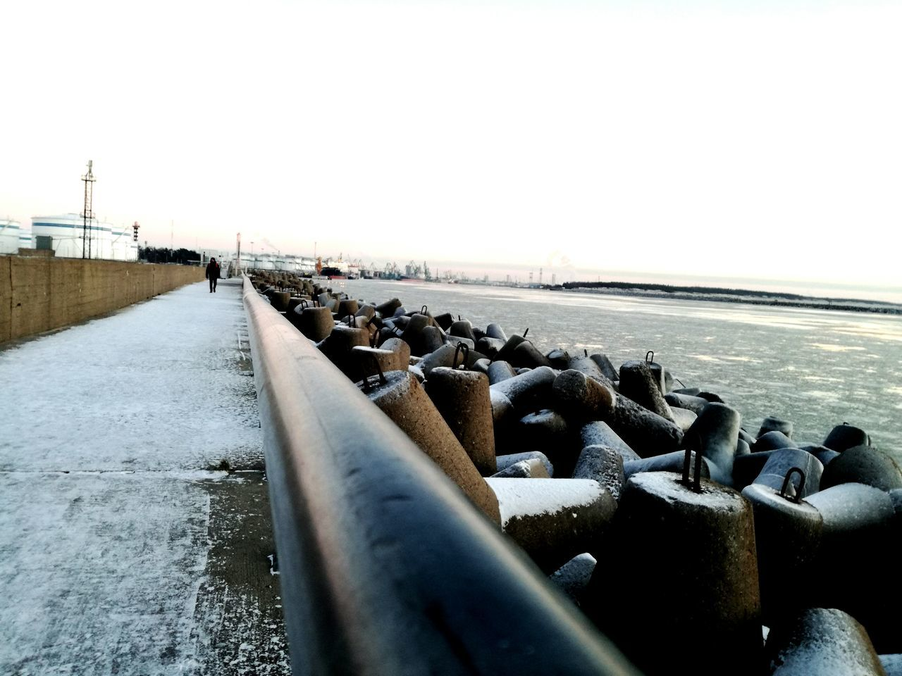 Port Ice Sea Ships