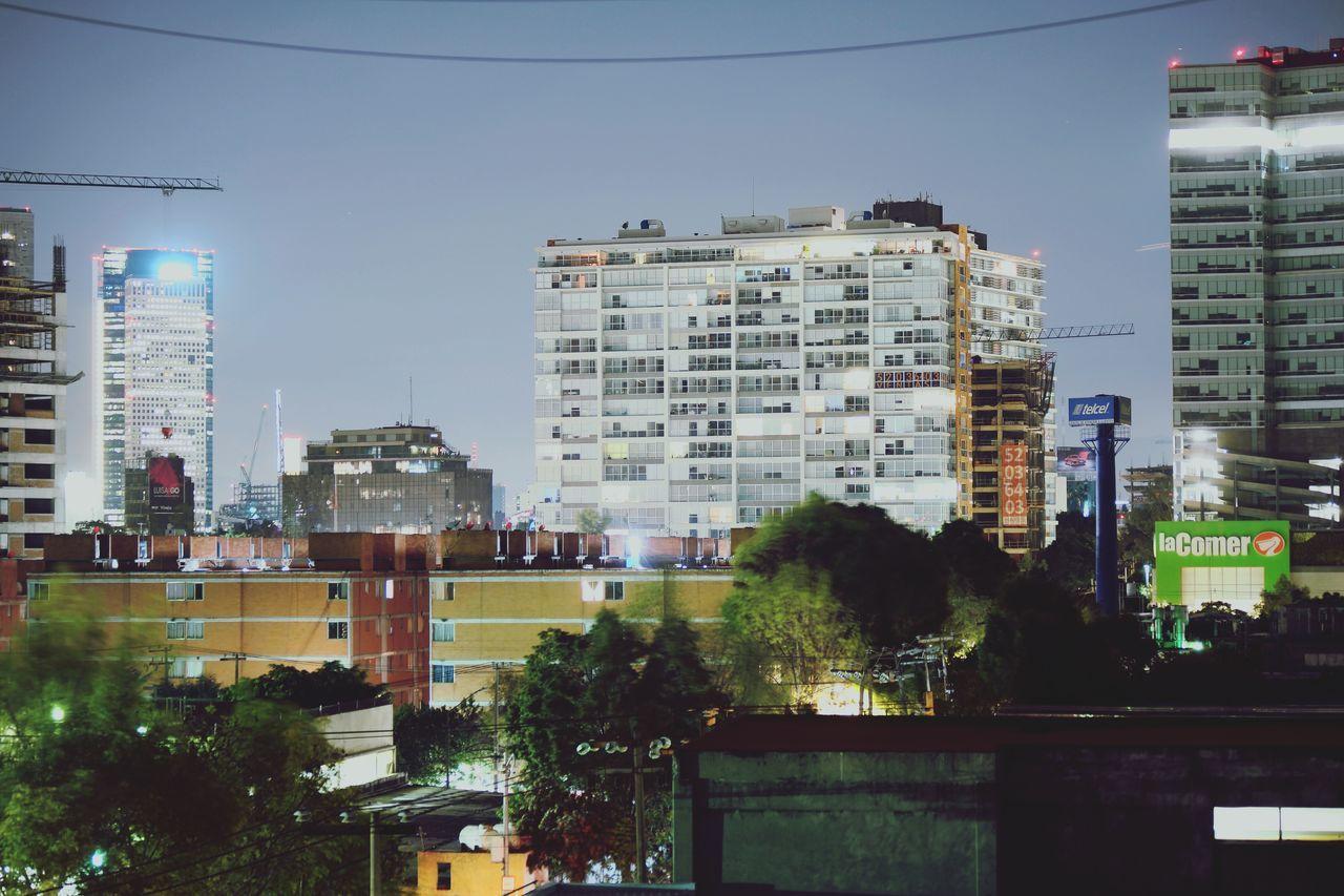 City Life City CD.MX. Night Residential District Urban Skyline Night Lights City Street