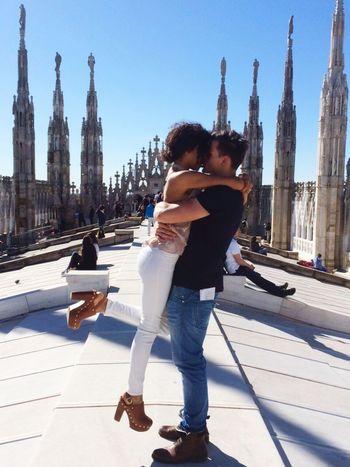 Duomo Di Milano Rooftop View  Mailand At Duomo Di Milano Couple