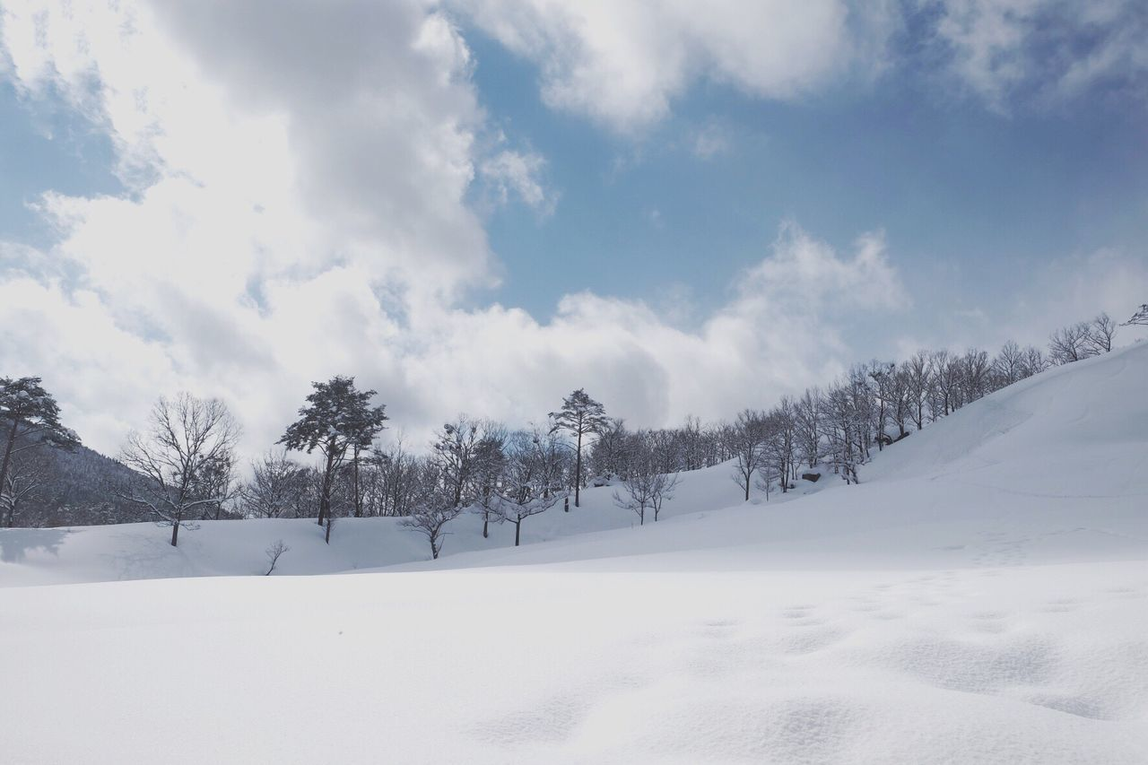 Good by winter Snow Winter Sky Nature Outdoors Beauty In Nature FUJIFILM X-T1 Japan Photography Cloud - Sky