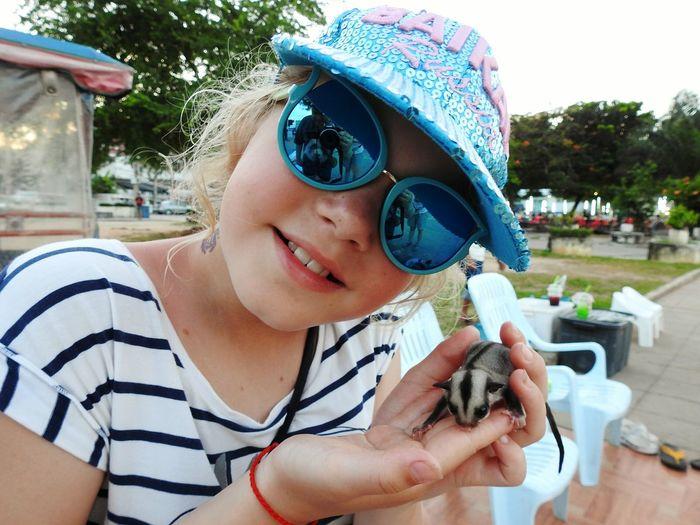 Daughter Sugar Glider Sweety Little Happy Girl  Sunny Day 🌞 EyeEm Selects Wild Animal Naturephotography Portrait Photography Let's Go. Together. EyeEmNewHere Prachuap Khiri Khan Summertime PrachuapKhiriKhan Happy Summer Sommergefühle