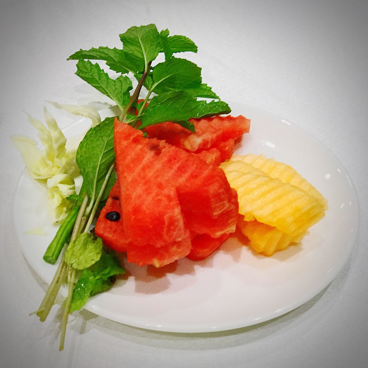 Fruits ♡ Freshness Healthy Eating Ready-to-eat Water Melon Cantaloupe Herb Healthy Lifestyle Health Food