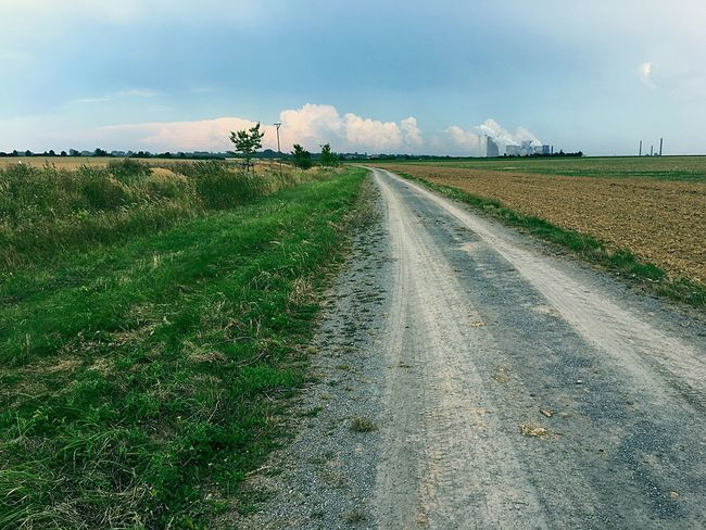 Energy Plant Landscape Sky Cloud Dirt Road Tranquil Scene