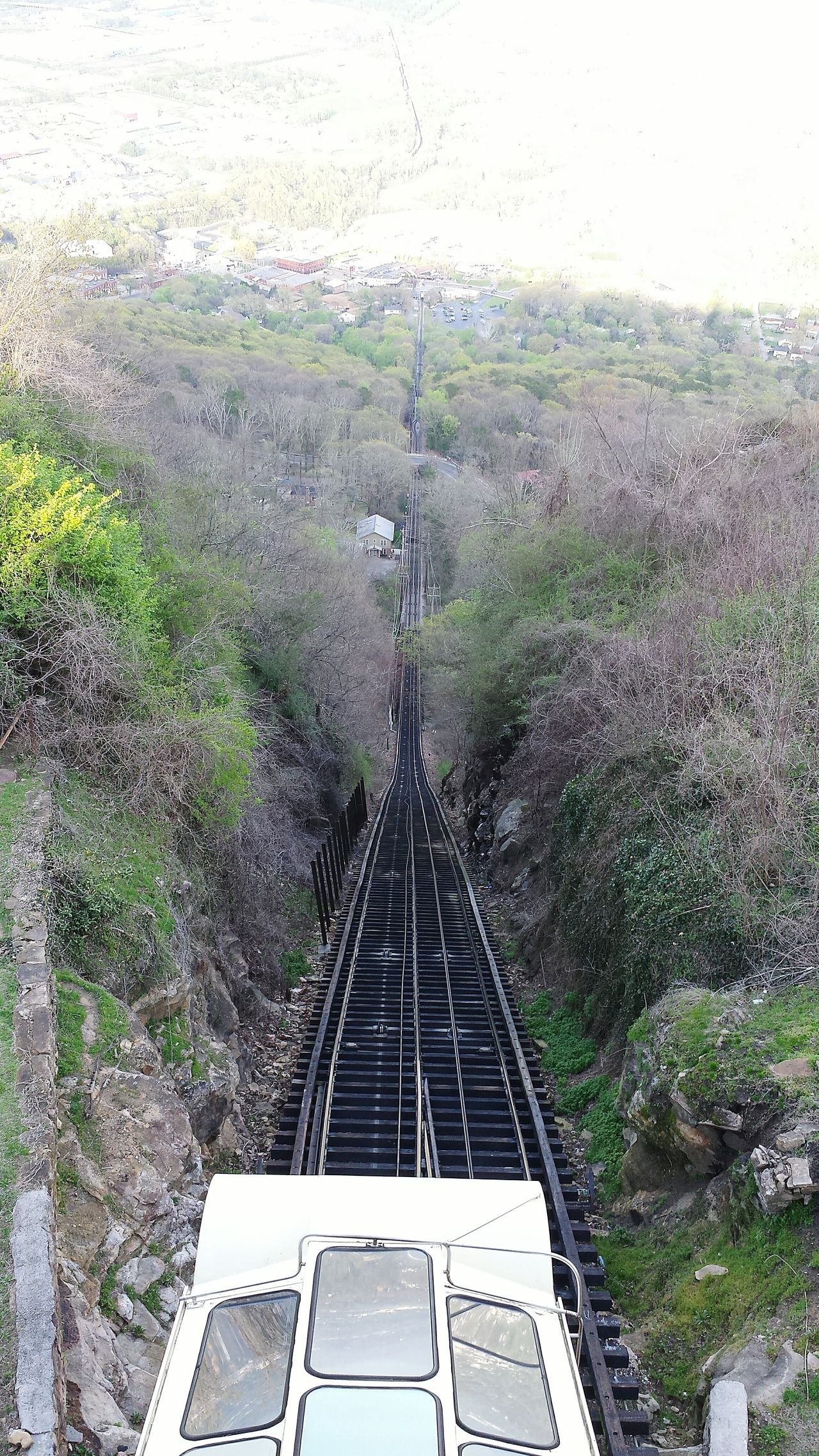 Worlds Steepest Incline Railway. Lookout Mountain High Angle View Day Growth Nature Outdoors No People Beauty In Nature Scenics