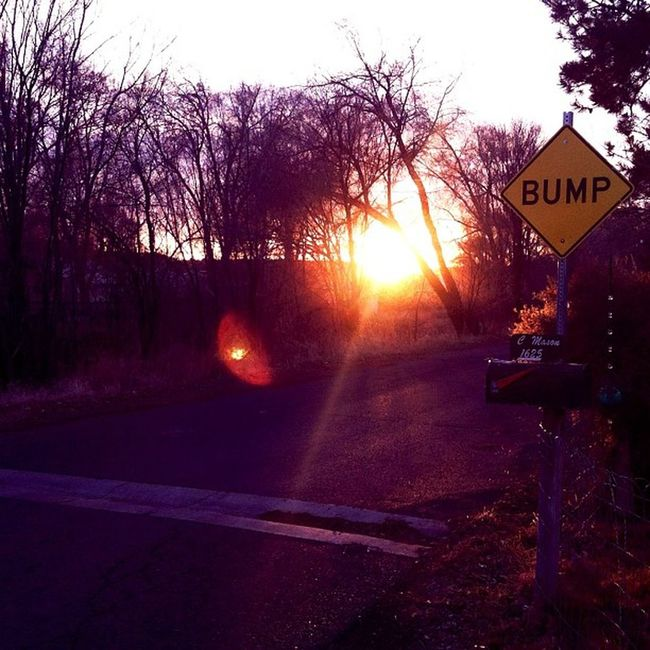 Sun Set Sunset Beautiful Bump Sign Totally Ruined IT Thats My Street For Ya Love You Gold <3