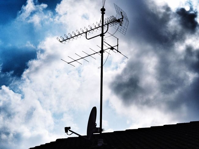 Roof Rooftop Antenna Sky Sky And Clouds Outdoors Clouds And Sky Weather