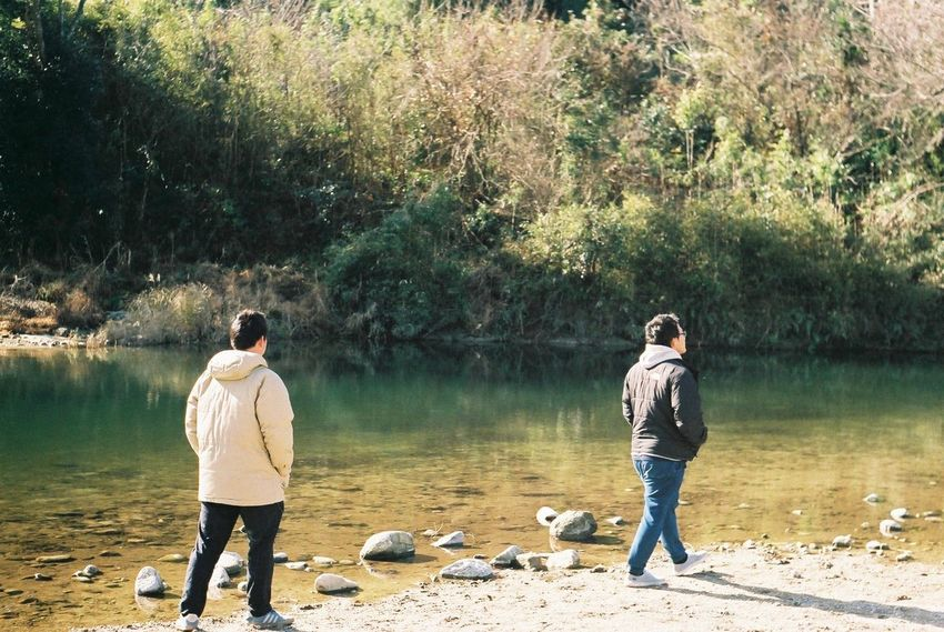 Fujicolor Industrial 100 Pentax SpII River Full Length Rear View Nature People Two People Day Water Outdoors Men