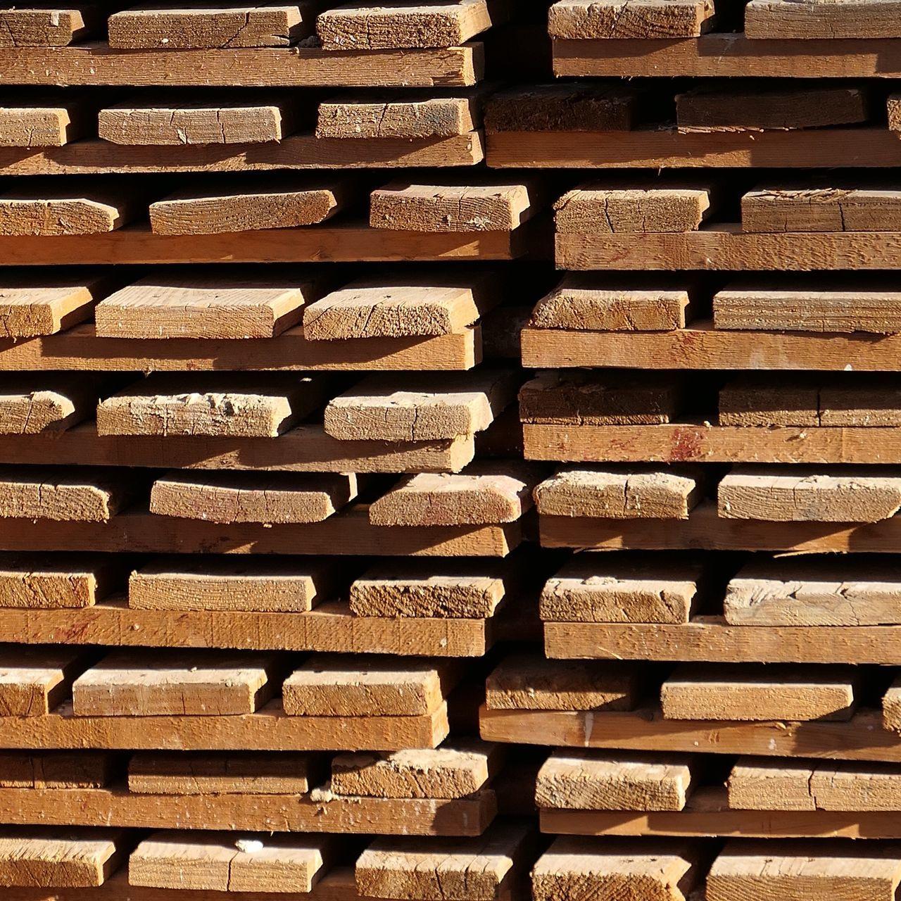 Full Frame Shot Of Timber Stack