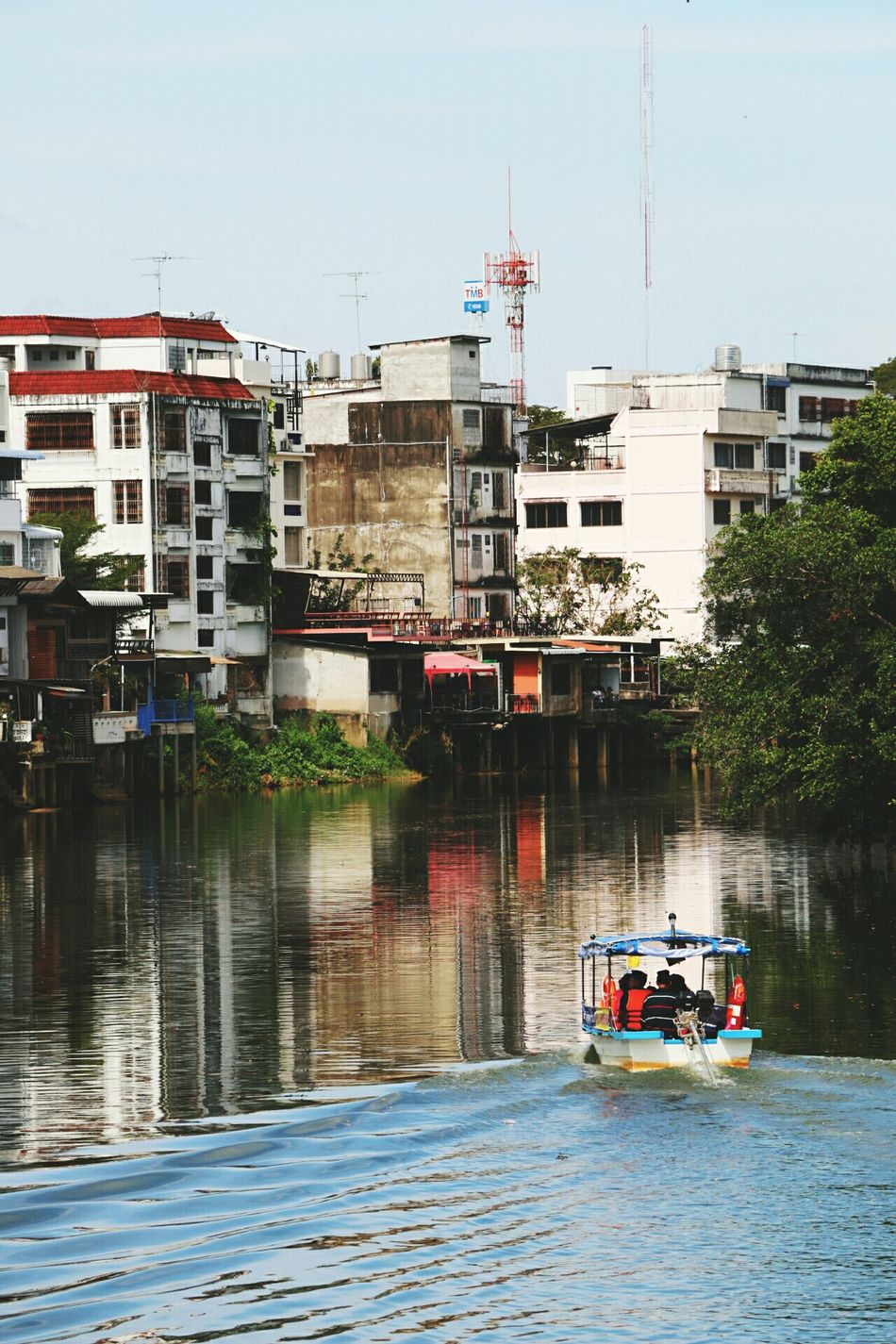 Mode Of Transport City Water Outdoors Architecture Day Bridge - Man Made Structure Nautical Vessel Business Finance And Industry No People Sky Thaistyle Thailand.. Thailand Thailand Photos Thai Art ThailandOnly Thai Style Janthaburi