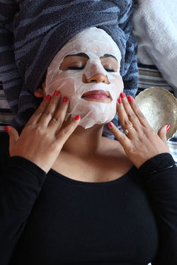 skin care and relaxing using face sheet mask and doing spa and nourishing skin by beauty care products Beauty Redefined Care Korea Korean Masks Relaxing Sheet Mask Woman Beauty Beauty Care Face Face Sheet Face Sheet Mask Mask Masked Relax Relaxation Sheet Skin Skin Care Skin Care Result Skincare Skincare Product Skinretouching Spa