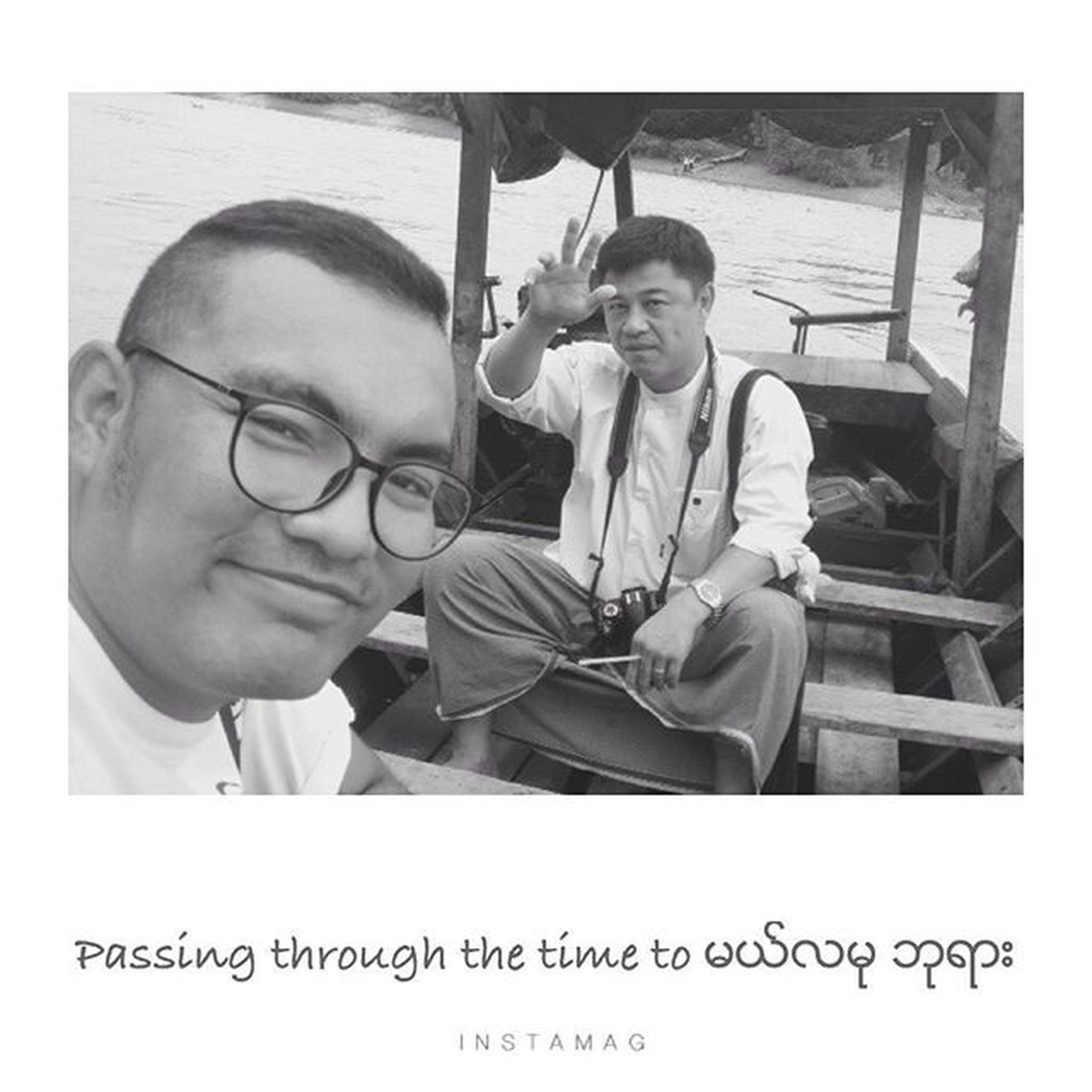 The time Crossing through the river to မယ္လမုဘုရား New_friend Like_the_brother_from_another_mom ..