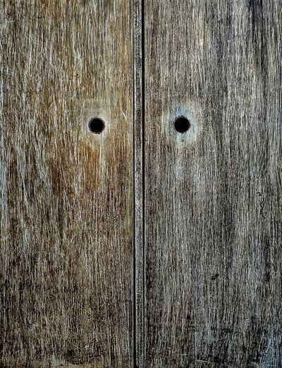 Minimal Close-up Backgrounds No People Holes Wood - Material Wood Door Minimal