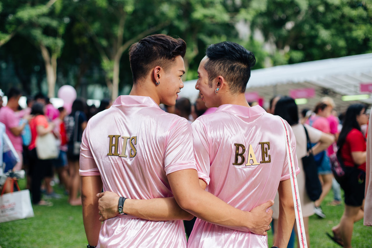 SINGAPORE - July 1, 2017: Hong Lim Park, where Pink Dot held its 9th event, is filled its complicity with Singaporeans and PRs to support the freedom to love. Over twenty-thousand of LGBTIQ and allies gathered up to make their voice loud and proud, despite the 'foreigner ban'. Couple Gay Gay Couple Gay Pride Gaymen Gaypride Hong Lim Park Lgbt Lgbt Couple Lgbt Pride LGBT Rainbows Lgbtiq Lgbtq Loveislove Lovewins Pink Dot Pinkdot Pinkdot2017 PinkDotSG Queer Singapore Singaporean Togetherness Gaypride2017