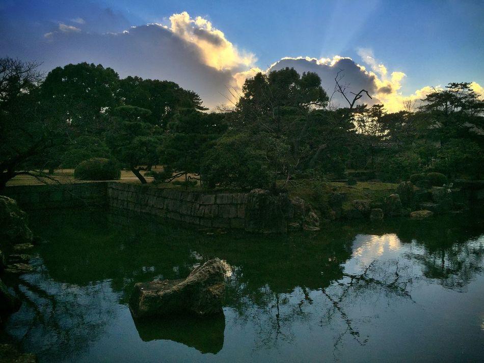 A garden at the Nijo-jo Castle in Kyoto Landscape Traveling Kx2014