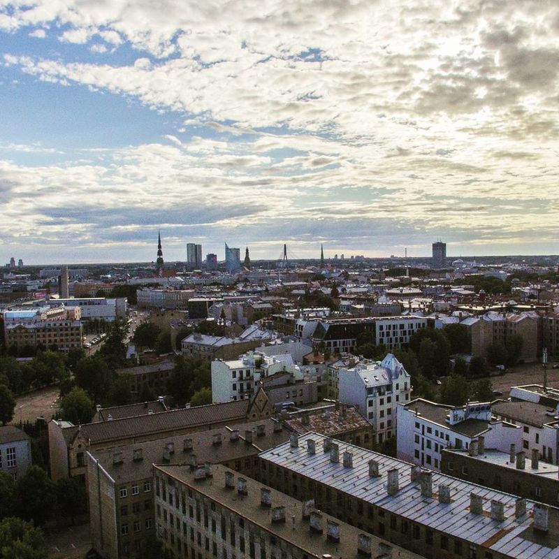 Riga Riga Latvia Riga Old Town Daugava River Dji Drone  Drone Photography Cityscape Cloud - Sky Architecture High Angle View City Aerial View Urban Skyline Sky Skyscraper Travel Destinations Building Exterior Outdoors No People Sunset Day Modern