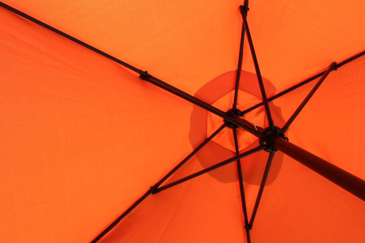 Orange Color Sunset No People Low Angle View Outdoors Nature Day Close-up Sky Resist Orange Anaranjado Umbrella Backgrounds Shades Resist Minimalism Art Is Everywhere Sombrilla Break The Mold Still Life The Architect - 2017 EyeEm Awards BYOPaper!