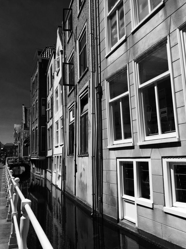 Architecture Building Built Structure Canal City City Life Outdoors Sky EE Love Connection! Black And White Scenics Light And Shadow Blackandwhite Monochrome Shades Of Grey Eye4photography  Eeyem Photography Streetphotography Taking Photos EyeEmBestPics Black & White Street Photography Bridge EyeEm Best Shots Architecture_collection