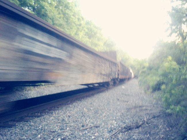 we were walking along the tracks till we heard the horn First Eyeem Photo