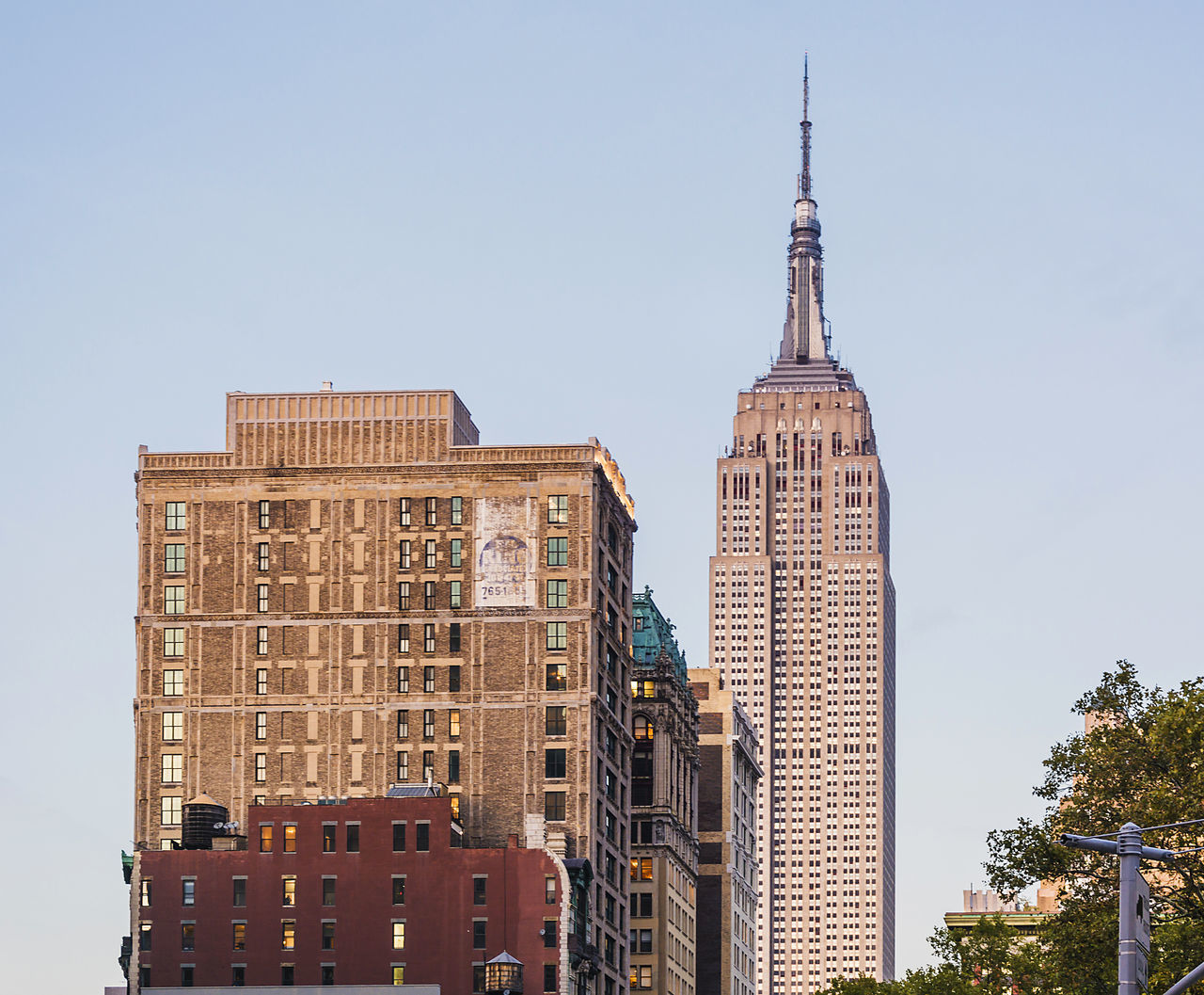 Empire state building facade. It stood as the world's tallest building for more than 40 years from 1931 to 1972 Architecture Business Finance And Industry City Cityscape Clock Clock Tower Day Empire State Building Facade Building New York City No People Outdoors Sky Skyscraper Tower Travel Destinations Urban Skyline