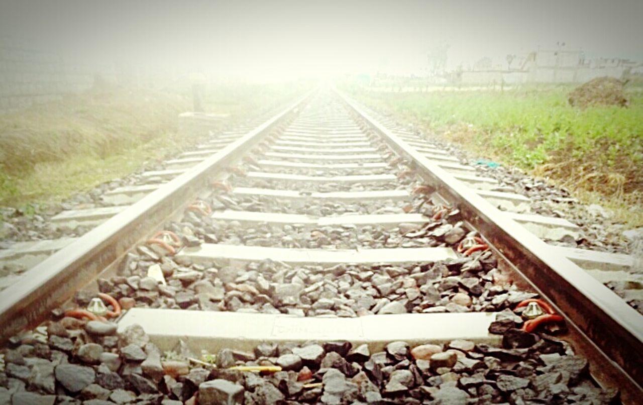 The Changing City Train Tracks Ambato Ecuador Copyright©
