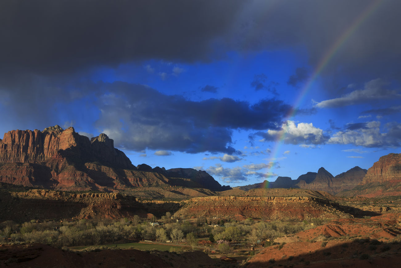 Zion National Park Rockville Rockville Road Rainbows Rainbow Sky Clouds Clouds And Sky Landscapes Landscapes With WhiteWall Utah Canon 5d Mark Lll Eye4photography  Canon United States EyeEm Best Shots Bestoftheday Nature I Hope My Pictures Touch Your Hart Southwest  Fine Art Natures Beauty Fine Art Photography Weather Stormy Weather National Park