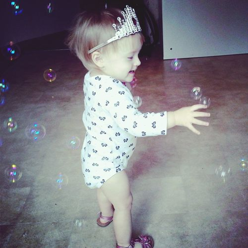 her first bubble adventure ! Enjoying Life Cheese! That's Me Check This Out