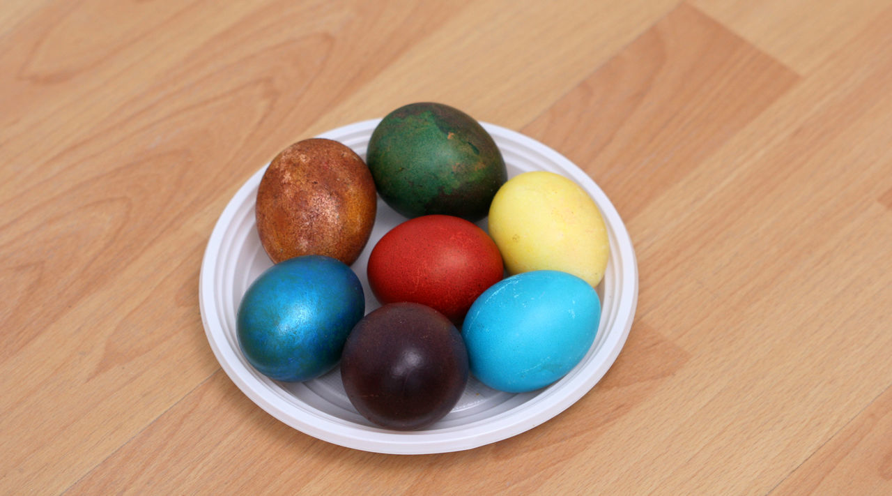 food, food and drink, multi colored, table, sweet food, indoors, easter egg, high angle view, easter, fruit, no people, dessert, freshness, close-up, day, ready-to-eat