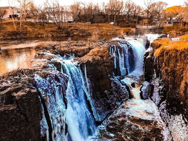 Fall River Rock - Object Waterfall Winter Beauty In Nature Water Outdoors Scenics Cold Temperature Landscape Snow Weekend