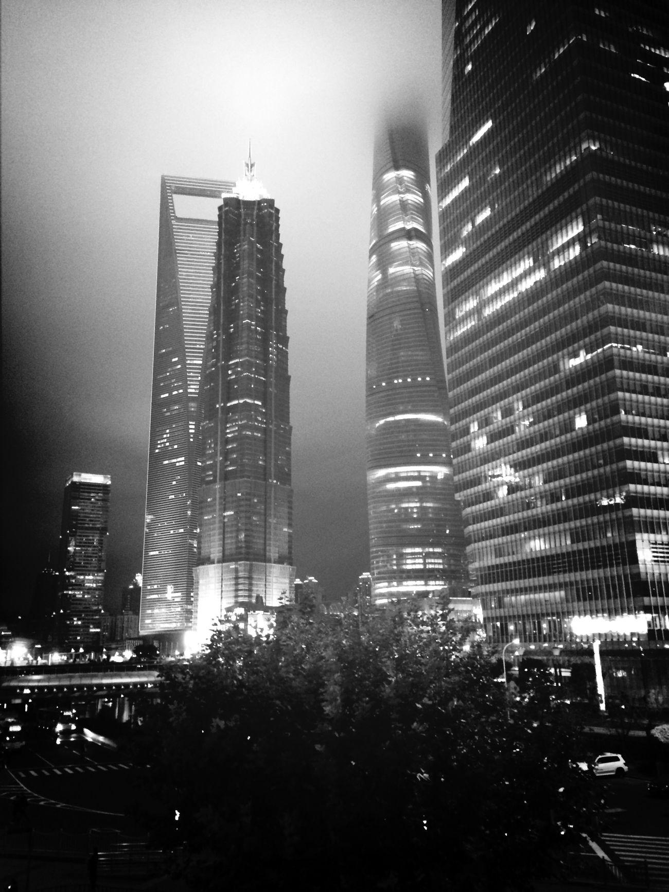 前天路过的陆家嘴 China Shanghai Melancholic Landscapes View