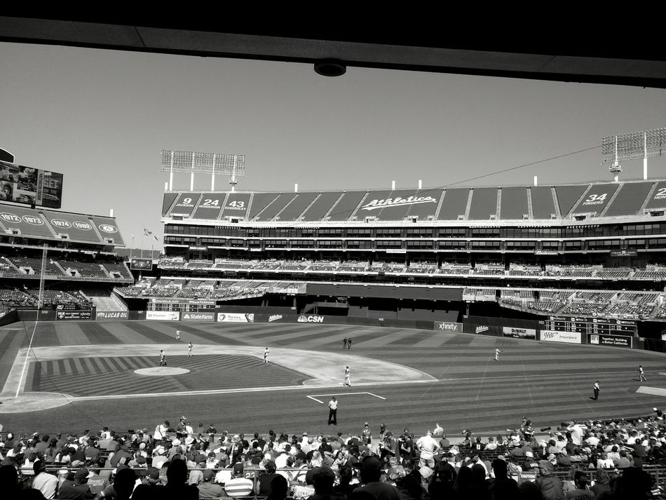 Oakland A's Game 2016© Sports Photography Baseball Game Baseball Stadium Oakland A's Oakland, Ca. OaklandAthletics Black And White Photography Baseball Photography