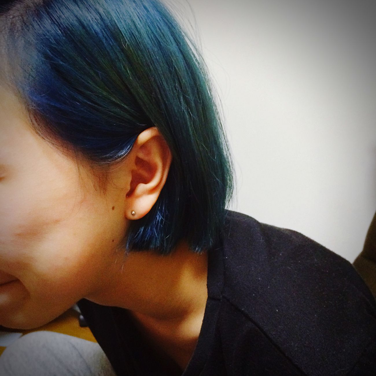 Blue Hairstyle Bobhaircut Cute
